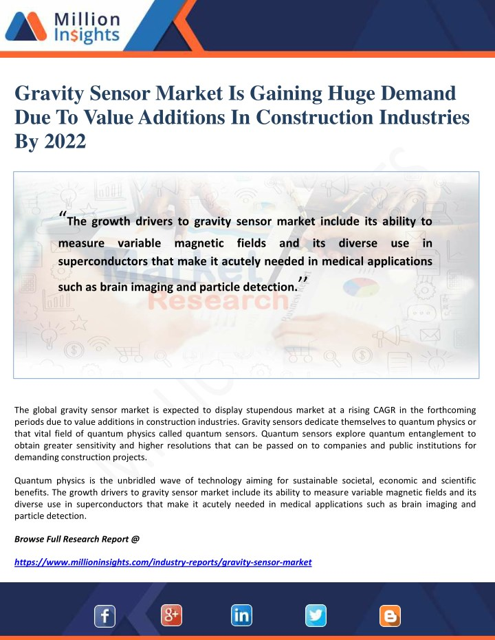 gravity sensor market is gaining huge demand n.