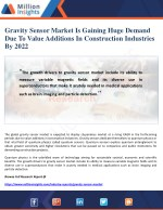 gravity sensor market is gaining huge demand