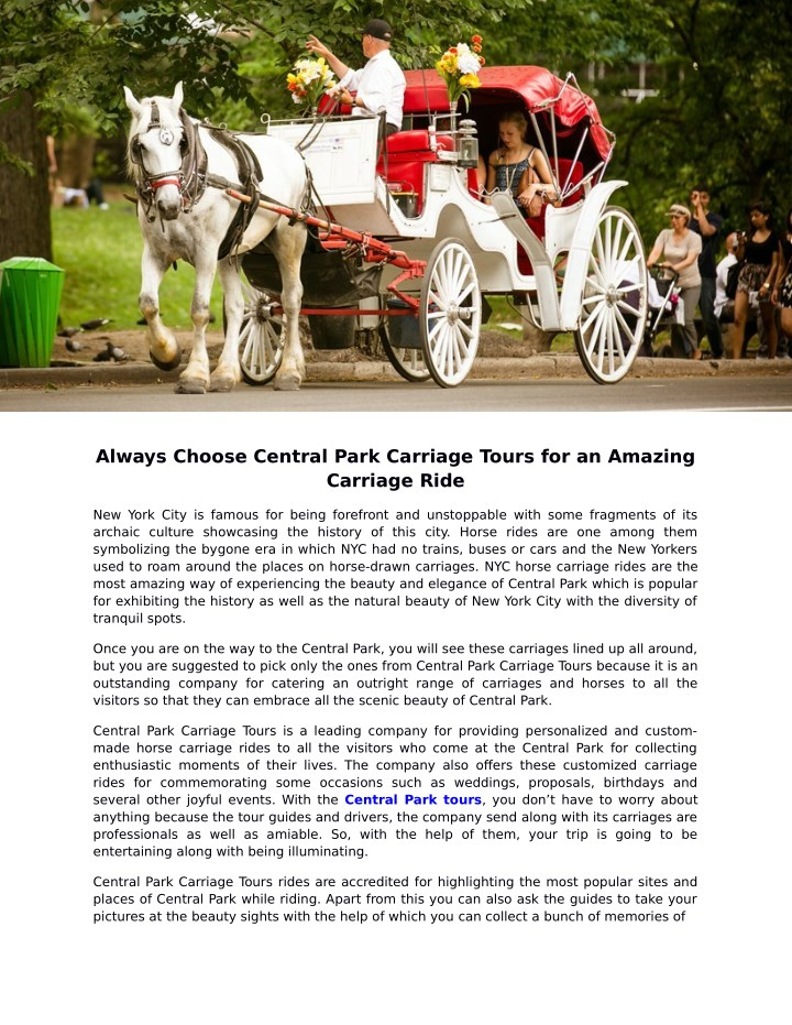 always choose central park carriage tours n.