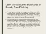 learn more about the importance of security guard