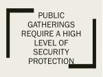 public gatherings require a high level