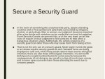 secure a security guard