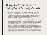 things to consider before hiring event security 1