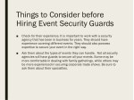 things to consider before hiring event security