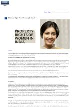 home blogs who has right over women s property
