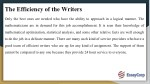 the efficiency of the writers