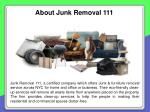 about junk removal 111