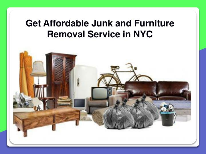 get affordable junk and furniture removal service n.