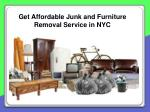 get affordable junk and furniture removal service