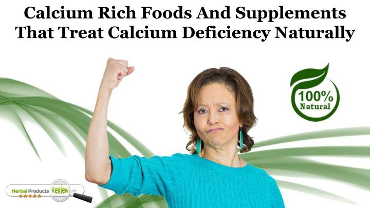 calcium rich foods and supplements that treat n.