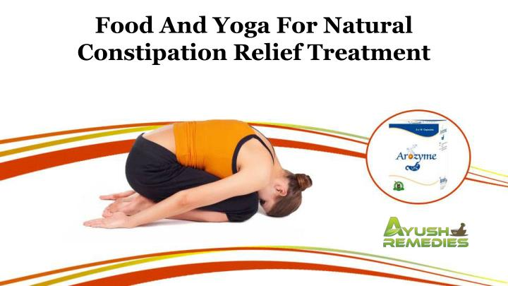 food and yoga for natural constipation relief n.