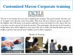 customized maven corporate training