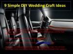 9 simple diy wedding craft ideas 1