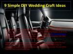 9 simple diy wedding craft ideas