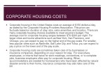 corporate housing costs