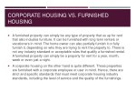 corporate housing vs furnished housing