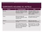 corporate housing vs hotels