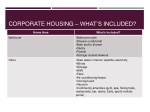 corporate housing what s included 1