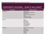 corporate housing what s included