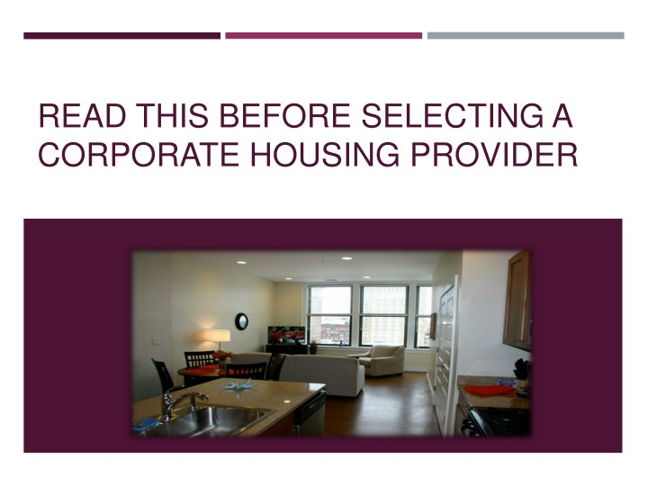 read this before selecting a corporate housing n.