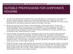 suitable professions for corporate housing