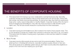 the benefits of corporate housing 1