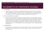 the benefits of corporate housing