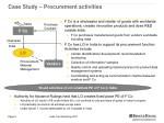 case study procurement activities