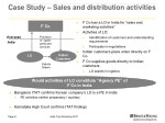 case study sales and distribution activities