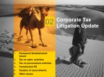 corporate tax litigation update