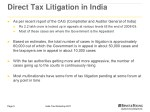 direct tax litigation in india