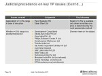 judicial precedence on key tp issues cont d 1