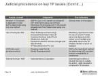 judicial precedence on key tp issues cont d 2