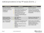 judicial precedence on key tp issues cont d 4