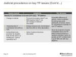 judicial precedence on key tp issues cont d 6