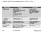 judicial precedence on key tp issues cont d