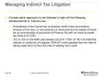 managing indirect tax litigation 3