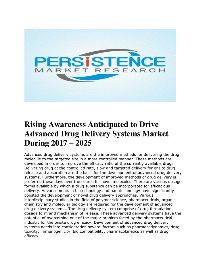 rising awareness anticipated to drive advanced n.