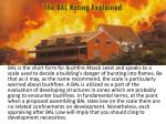bal is the short form for bushfire attack level