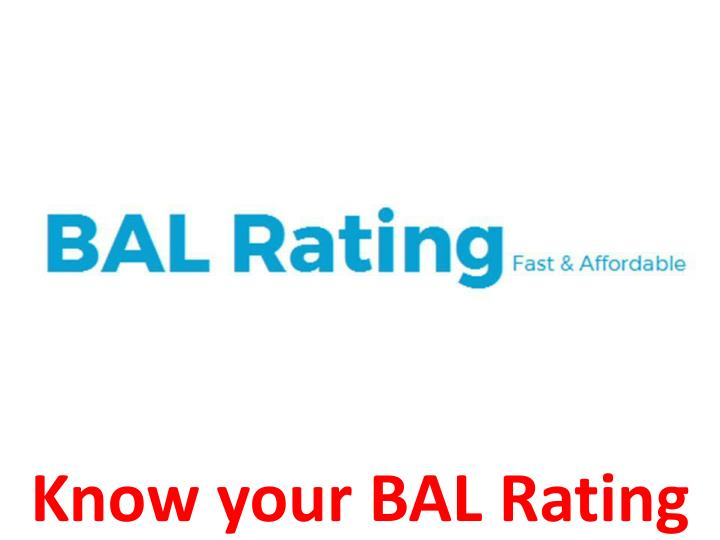 know your bal rating n.