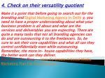 4 check on their versatility quotient make