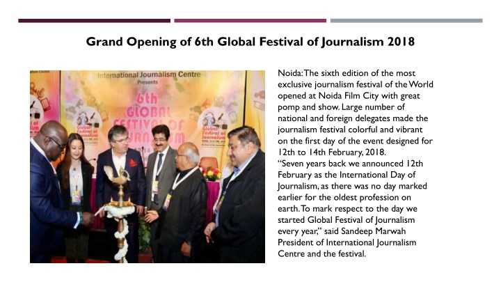 grand opening of 6th global festival n.