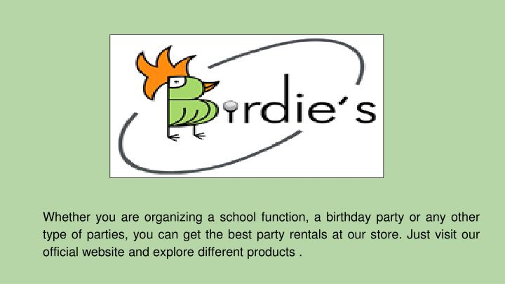 whether you are organizing a school function n.