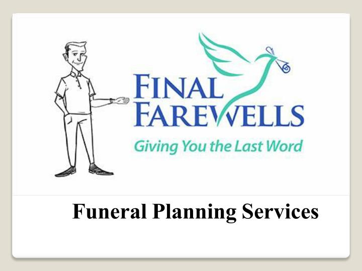 funeral planning services n.