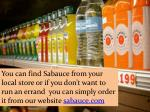 you can find sabauce from your local store