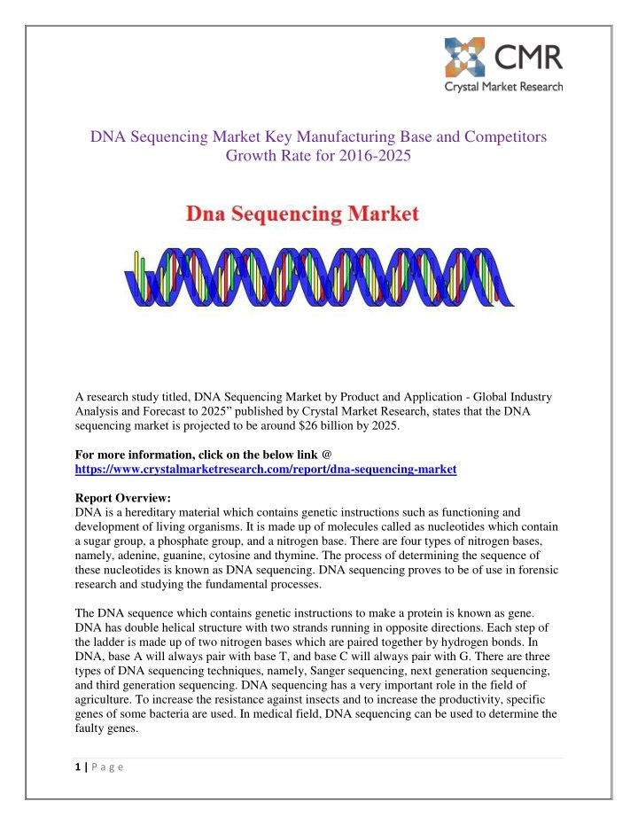 dna sequencing market key manufacturing base n.