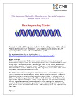 dna sequencing market key manufacturing base