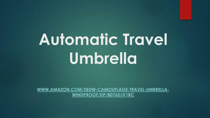 automatic travel umbrella n.
