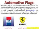 automotive flags