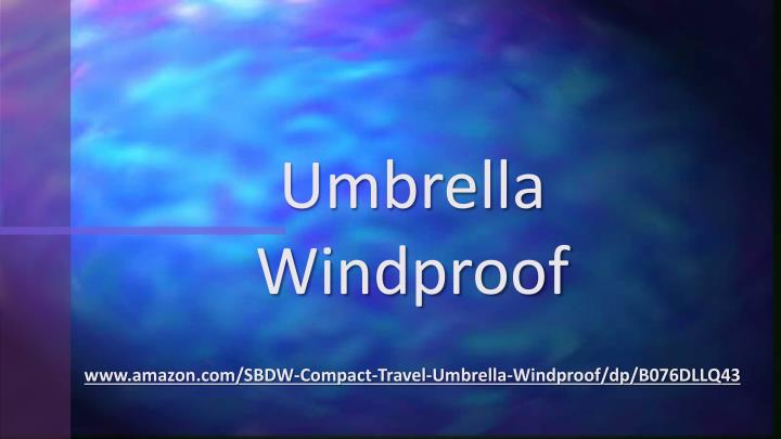 umbrella windproof n.